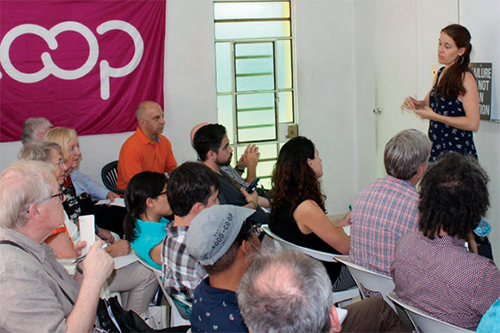 Camila Piñero, Center for Studies on the Cuban Economy, speaks with U.S. Co-op delegates during the 2016 Cooperative Forum in Cuba.