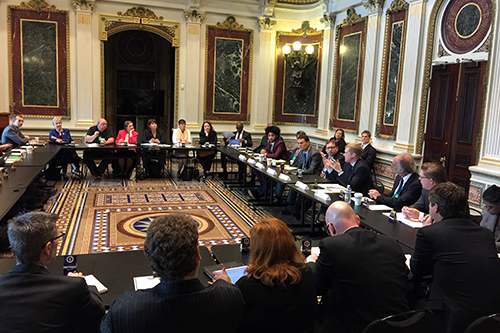 NCBA CLUSA wants assurance that Perdue would maintain and prioritize the work of USDA's Interagency Working Group on Cooperative Development, shown here meeting at the White House in May 2016. [photo: John Torres]