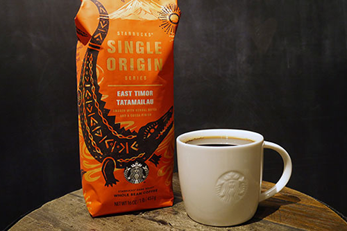 Starbucks' East Timor Tatamailau is named after the country's highest peak, Mount Ramelau, known in the local language as Tatamailau and shaped like a crocodile. [photo: Global Coffee Report]